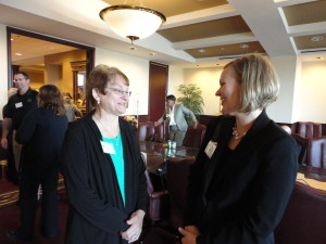 Pat Schultz, Vice President and Owner of Liniform, left, was an advisory board member for one of the ATHENAPowerLink businesses in 2013