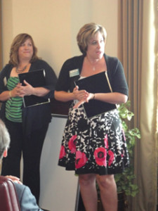 Akron ATHENAPowerLink recipients Michelle Henry and Amanda Barna from Center for Opinions and Market Research